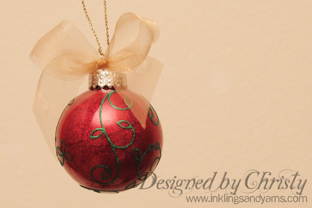 Christmas Ornament With Glitter Ritz And Floor Wax