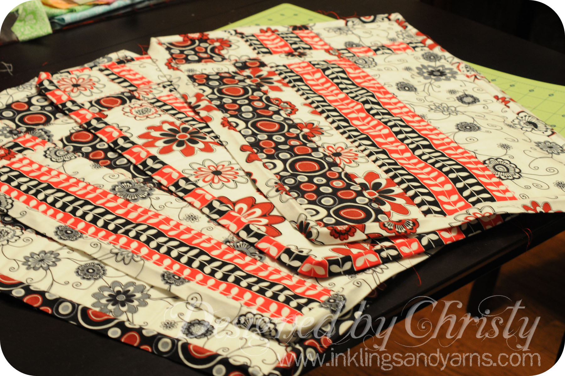Quilted Placemats Inklings Yarns