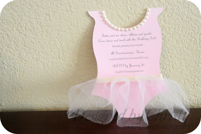 Ballerina Birthday Invitations Inklings Yarns