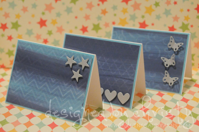 dry stamped note cards