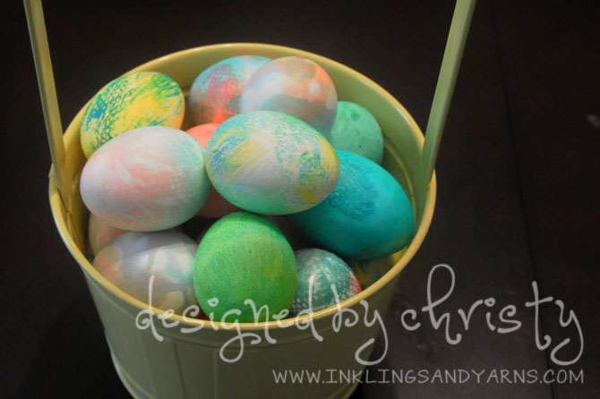 Dyed Easter Eggs | www.inklingsandyarns.com