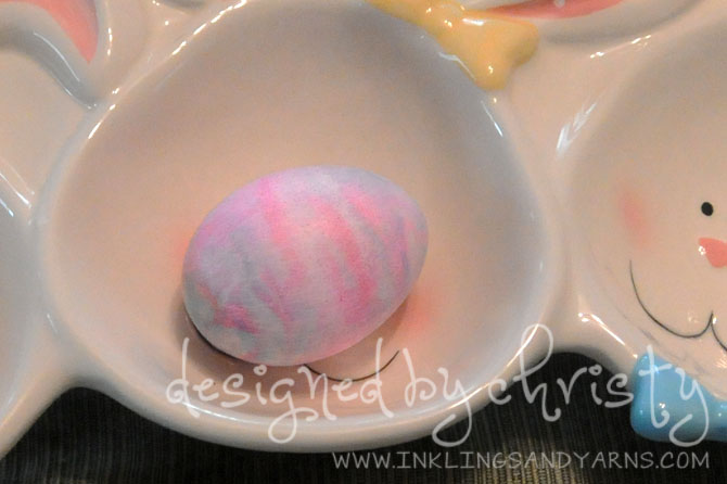 shaving cream egg | www.inklingsandyarns.com