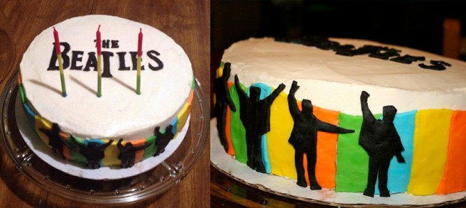Beatles Birthday Party Cake | www.inklingsandyarns.com