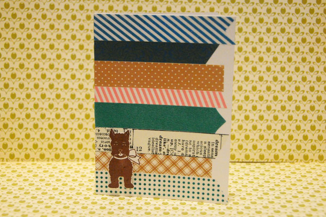 Scottie Dog and Washi Tape