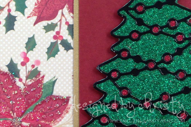 Elizabeth Craft Glitter Christmas Tree Close-Up | www.inklingsandyarns.com