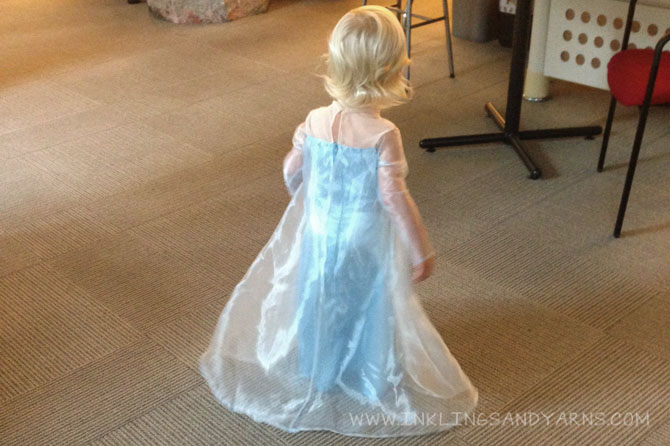 Allie in her Elsa Dress