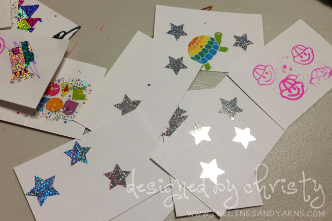 Toddler Card decorations