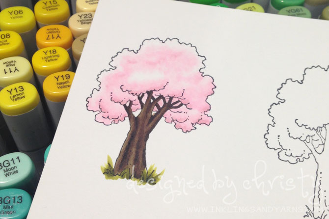 Copic Marker Cherry Blossom
