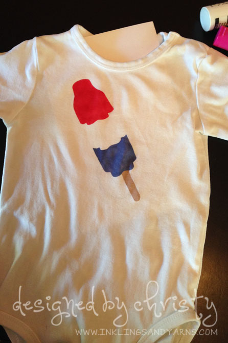 Finished Stenciled Popsicle Onesie