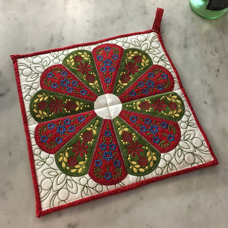 Dresden Applique Trivet