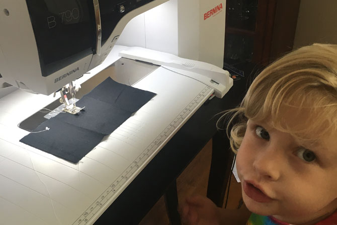 Allie Sews on Bernina 790