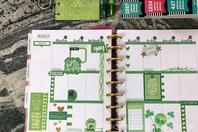 Happy Planner St. Patrick's Day Spread