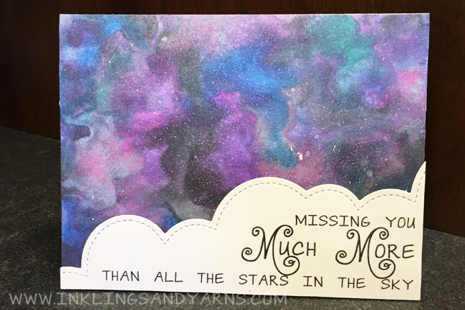 Missing You Watercolor Card