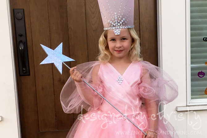 Glinda the good witch a halloween costume inklings yarns for Glinda the good witch crown template